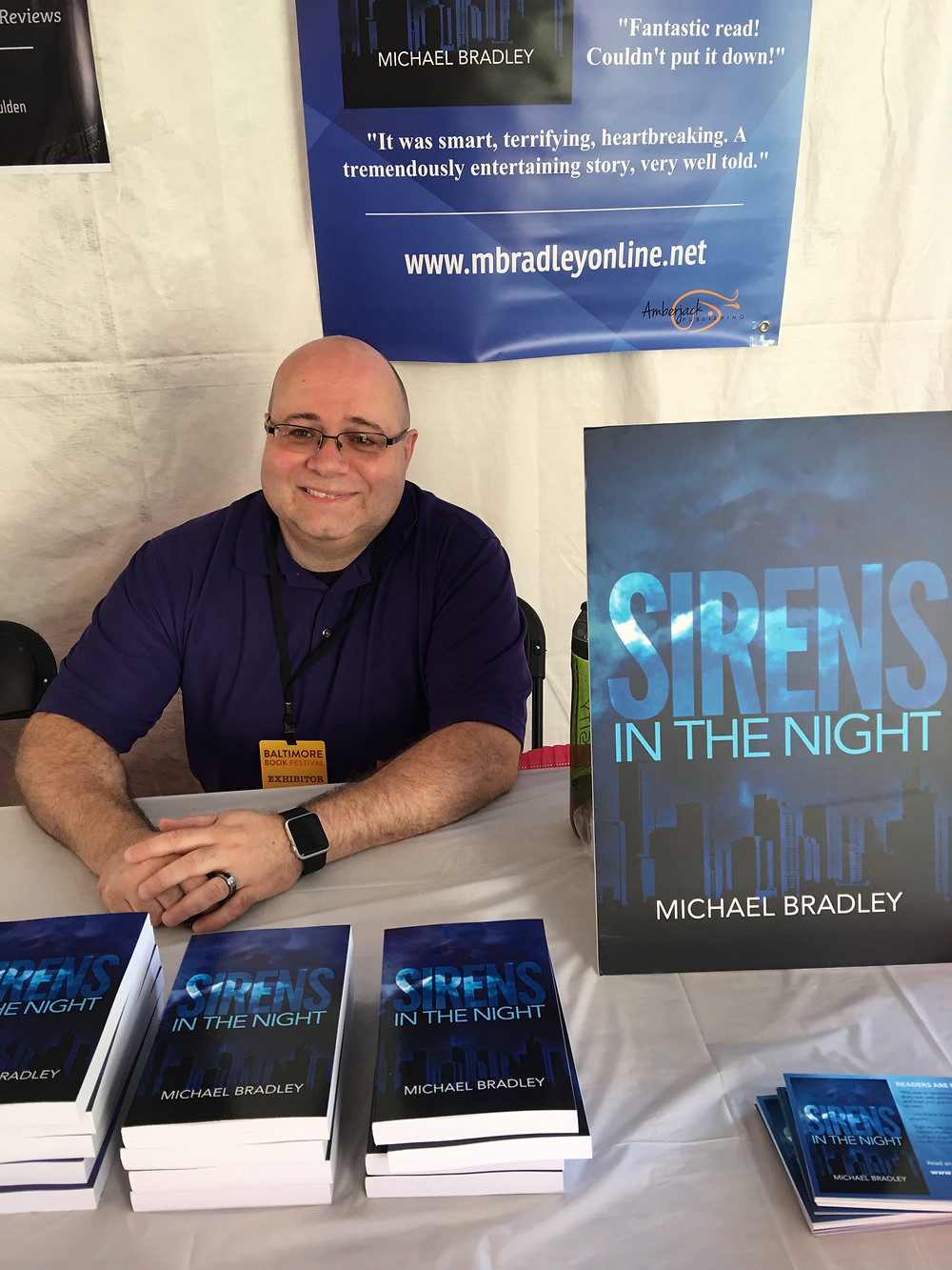 Appearing at the Baltimore Book Festival