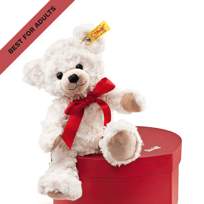 Best for Adults: Steiff Sweetheart Teddy Bear Plush