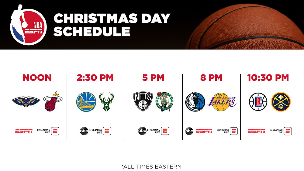 Christmas Day NBA Schedule