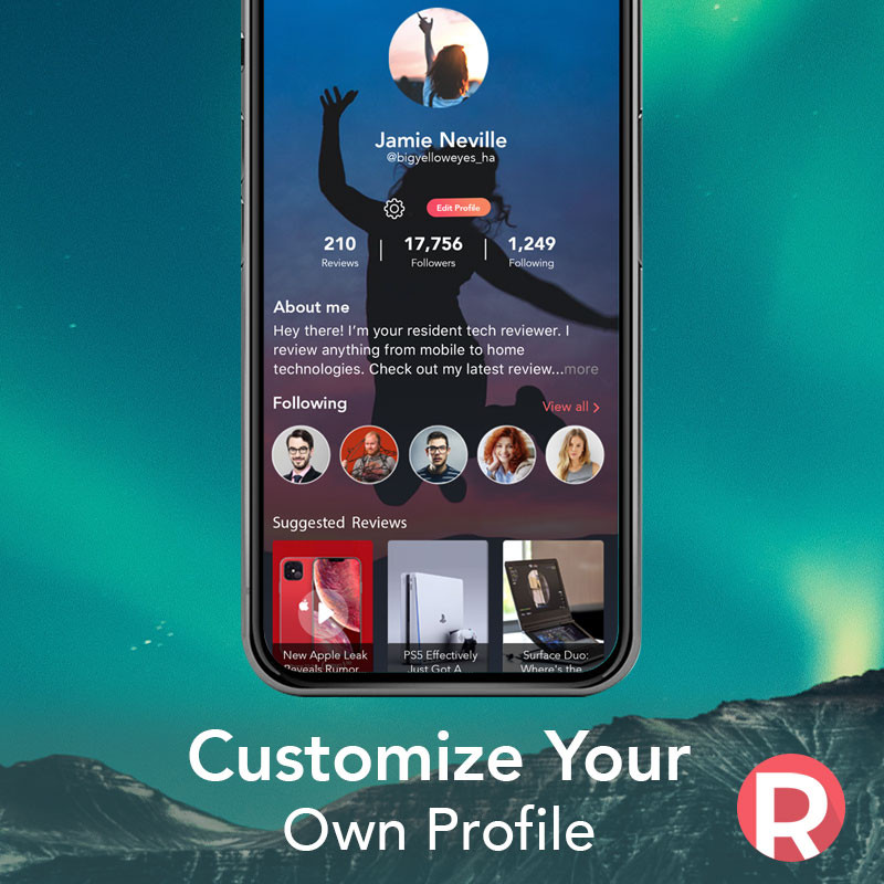 Revue App: Customize your own profile