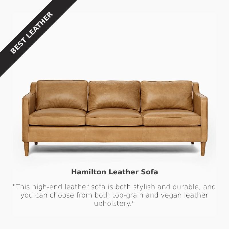 Best Leather: West Elm Hamilton Leather Sofa at West Elm