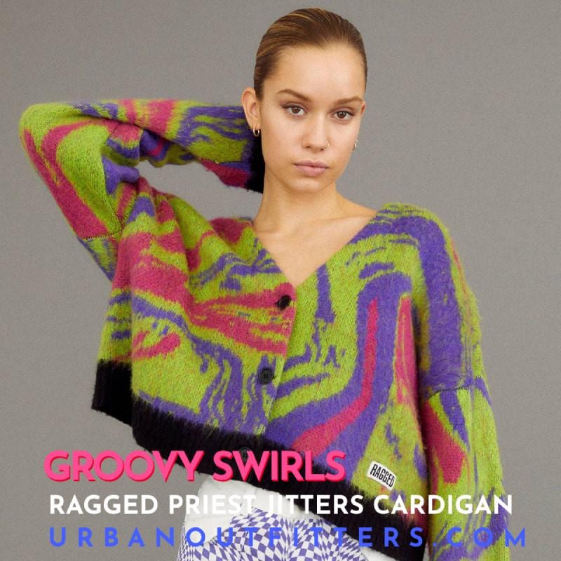Urban Outfitters Ragged Press Jitters Cardigan
