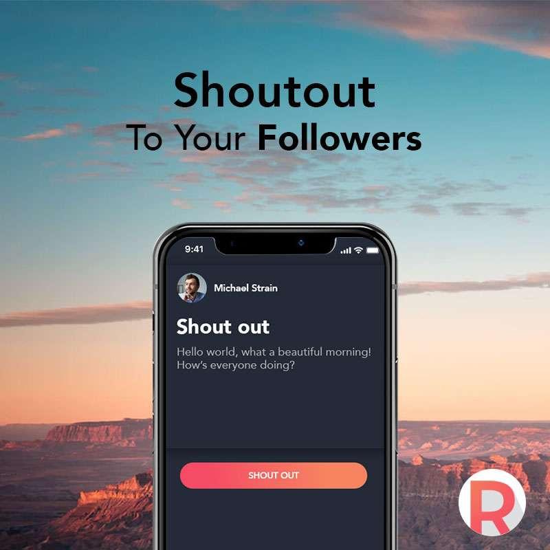 Revue App: Shoutout to your followers