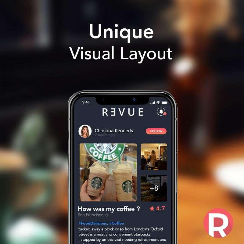 Revue App: Unique Visual Layout