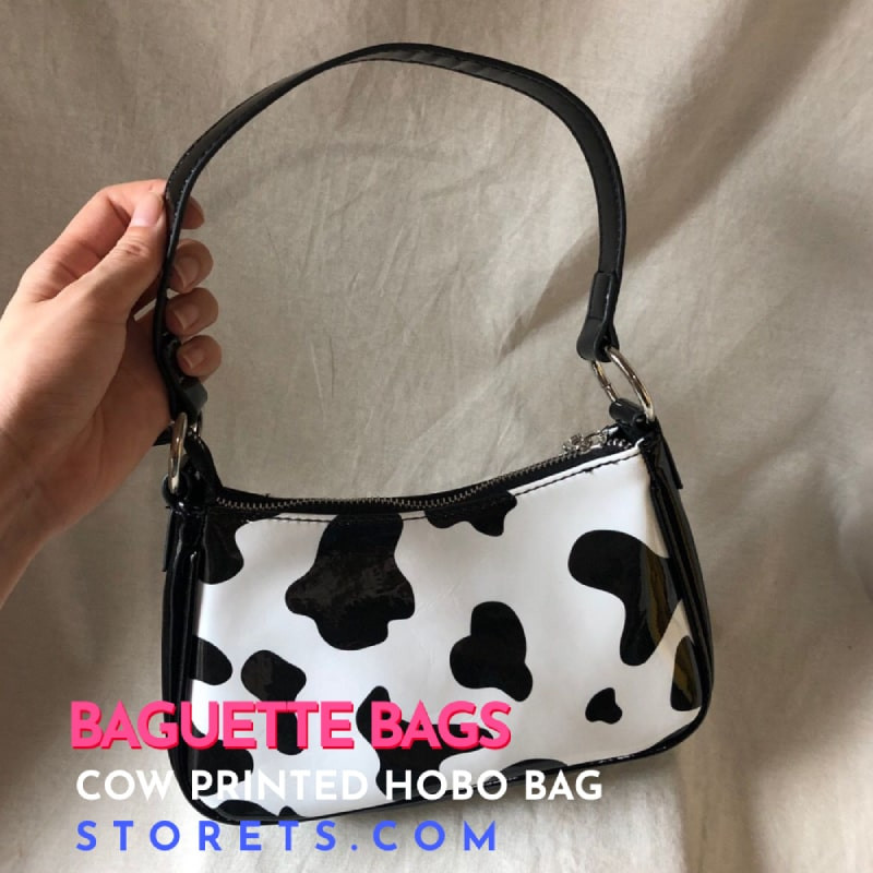 Storets Cow Printed Hobo Bag