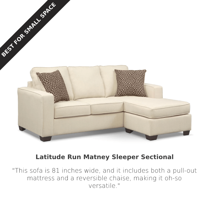Best for Small Spaces: Latitude Run Matney Sleeper Sectional at Wayfair