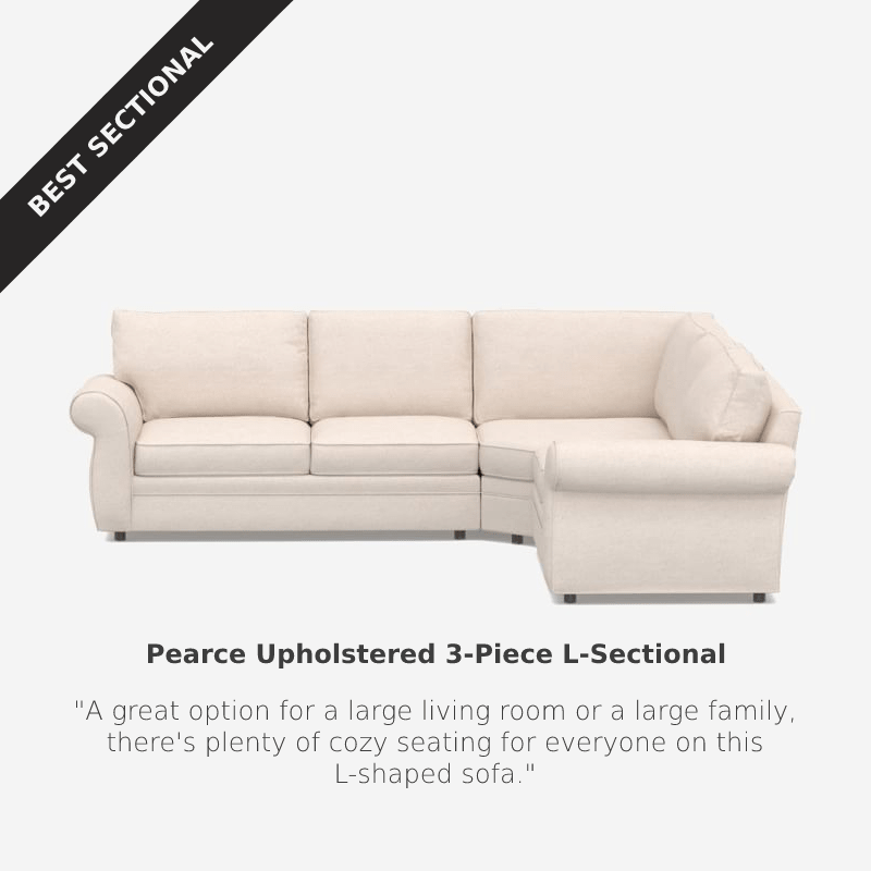 Best Sectional: Pottery Barn Pearce Upholstered Sectional at Pottery Barn