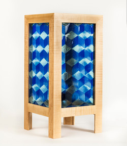 Blue-y Cube Table Lamp
