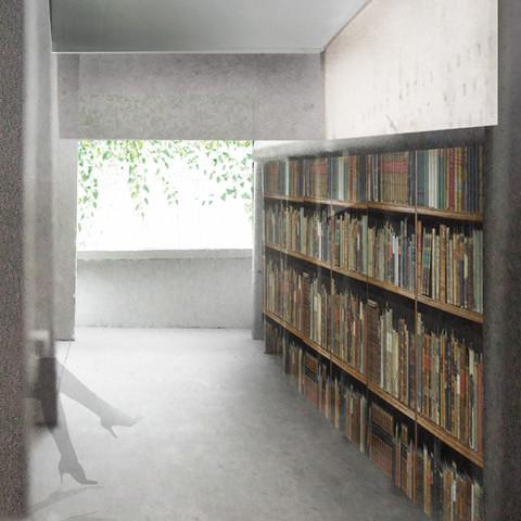 Appartments NY - Bibliothek