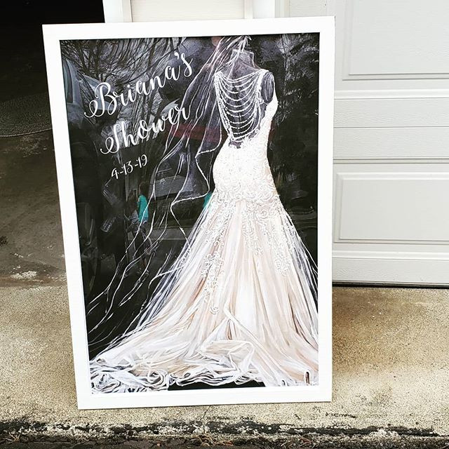 This Bridal Shower welcome sign is just