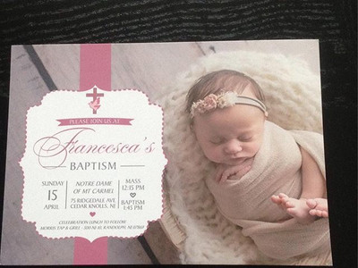 Baptism invitation 💒 #neutrals #nude #p