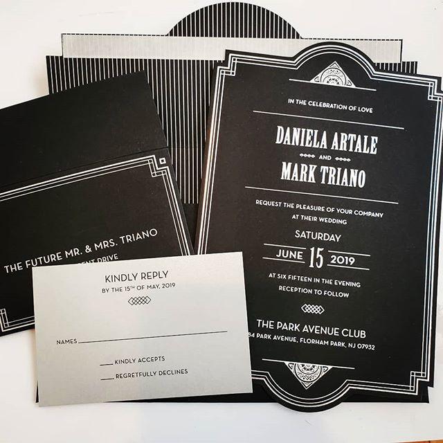 Love this black and silver invitation su