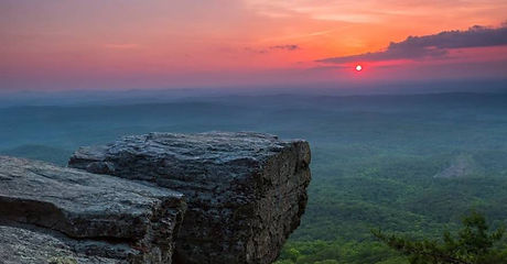 alabama Cheaha Overlook with Sunset_0.jp