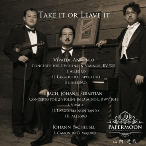 CD■Take it or Leave it バロック音楽【2018年】