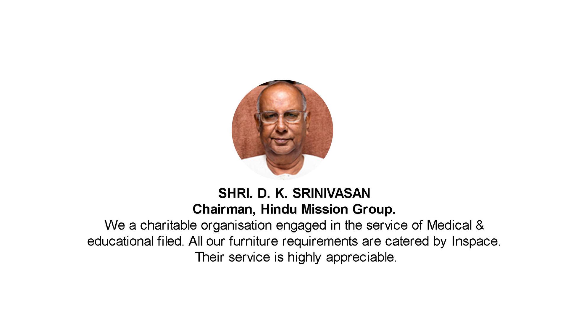D.K.Srinivasan