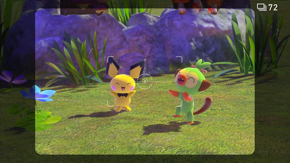 Pichu and Grookey New Pokemon Snap