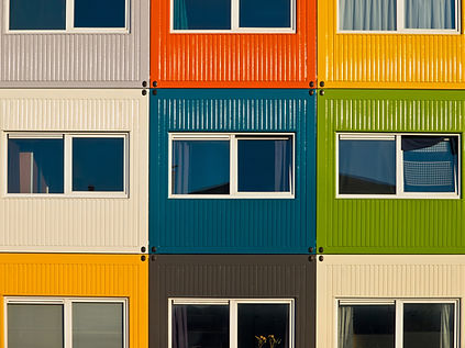 multicolour container houses