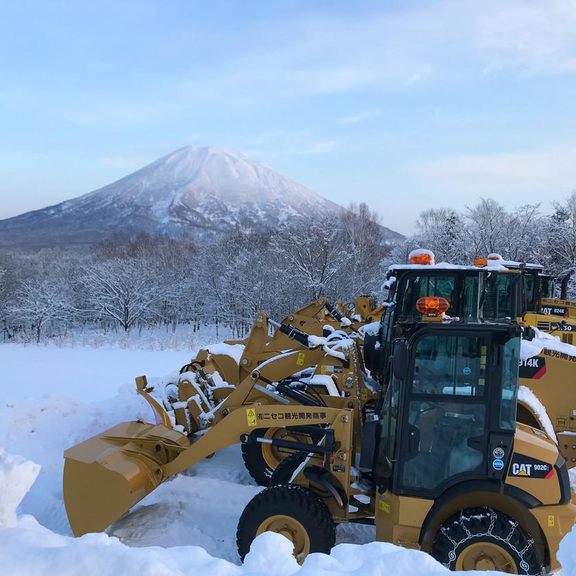 Hirafu snow clearers