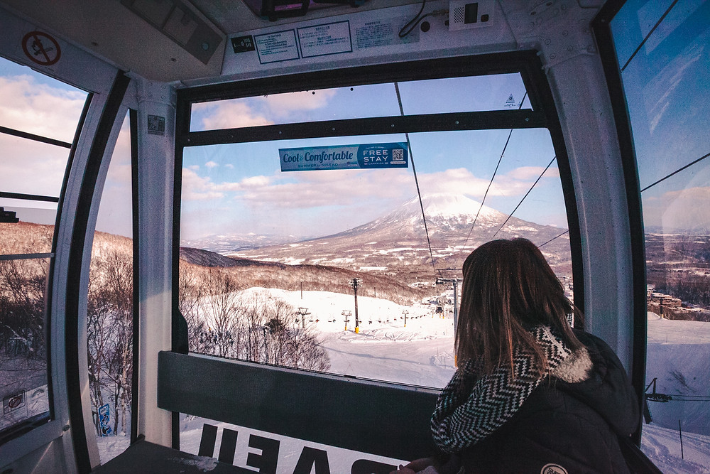 Take Hirafu Gondola for non skiers.
