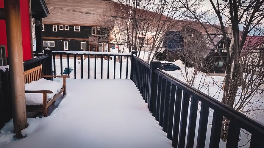 Balcony in winter