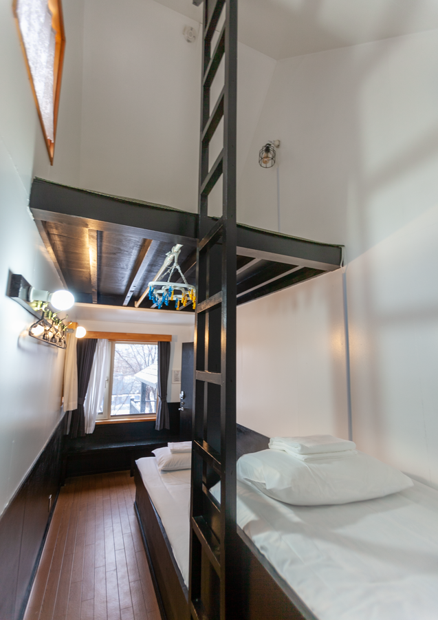 Two single beds plus loft