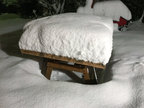 BBQ table in winter