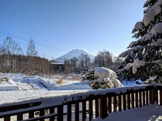 Mt Yotei from balcony