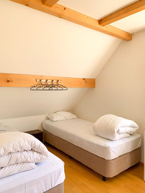 Single beds in main room