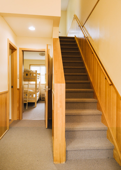 Stairs to dining room/kitchen