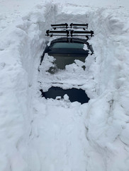 Digging cars out in winter