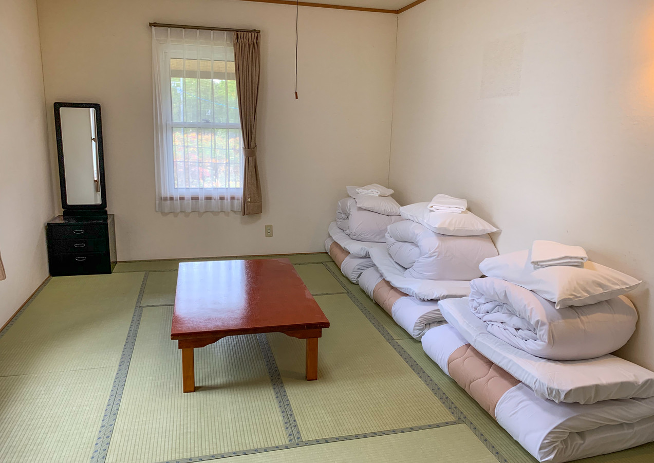 Futon beds fold up for extra space to relax