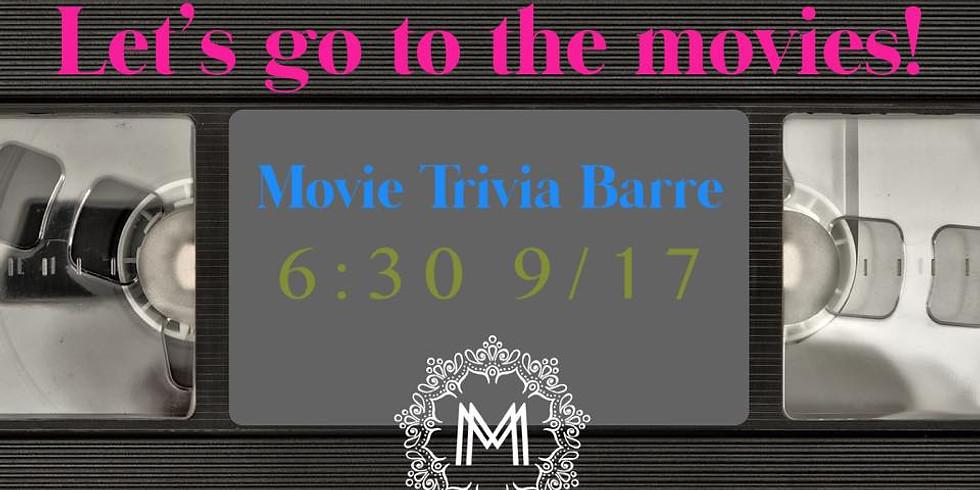 """""""Take Me To The Movies"""" Trivia Barre"""