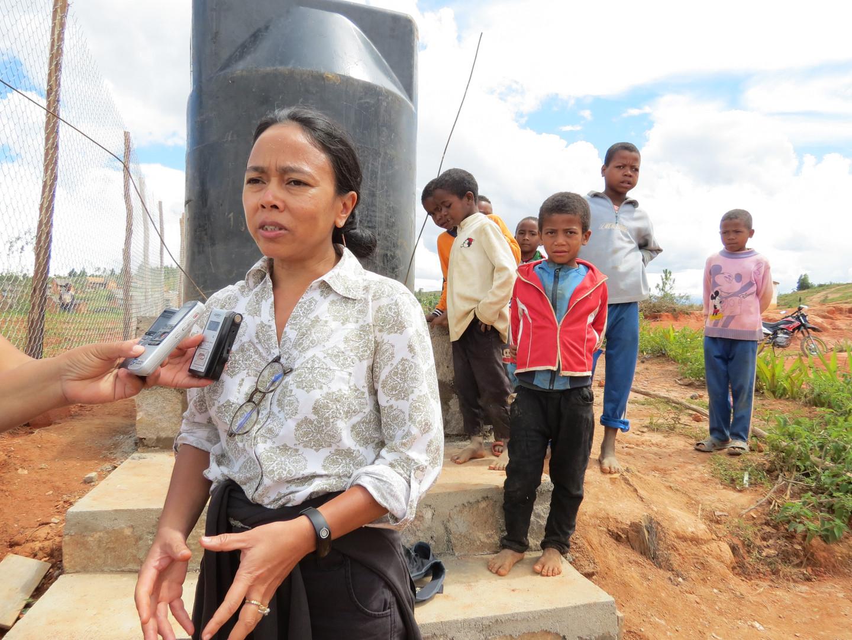 Scéance d'interview pour les médias malagasy