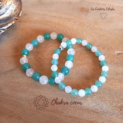 Harmonisation Chakra Coeur - Perles 6 ou 8 mm