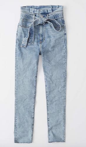 Ultra High Rise Paperbag Waist Jeans $44.00
