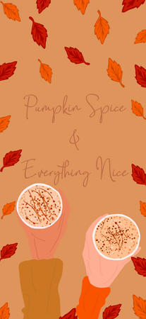 Pumpkin Spice and Everything Nice Wallpaper iPhone