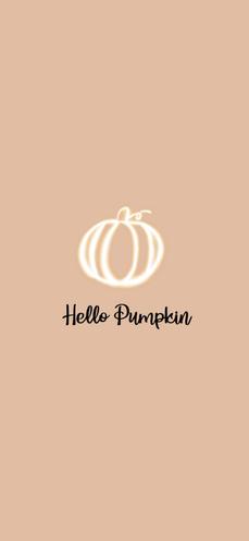 Hello Pumpkin Wallpaper iPhone