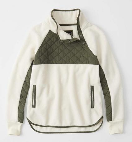 Asymmetrical Snap-Up Fleece