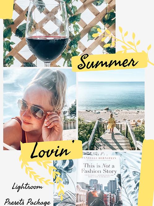 Summer Lovin' Lightroom Presets Package