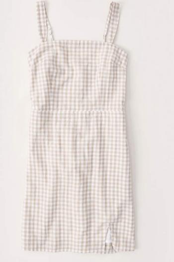 Wide Strap Mini Dress