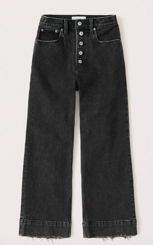 Ultra High Rise Cropped Wide Leg Jeans $44.50