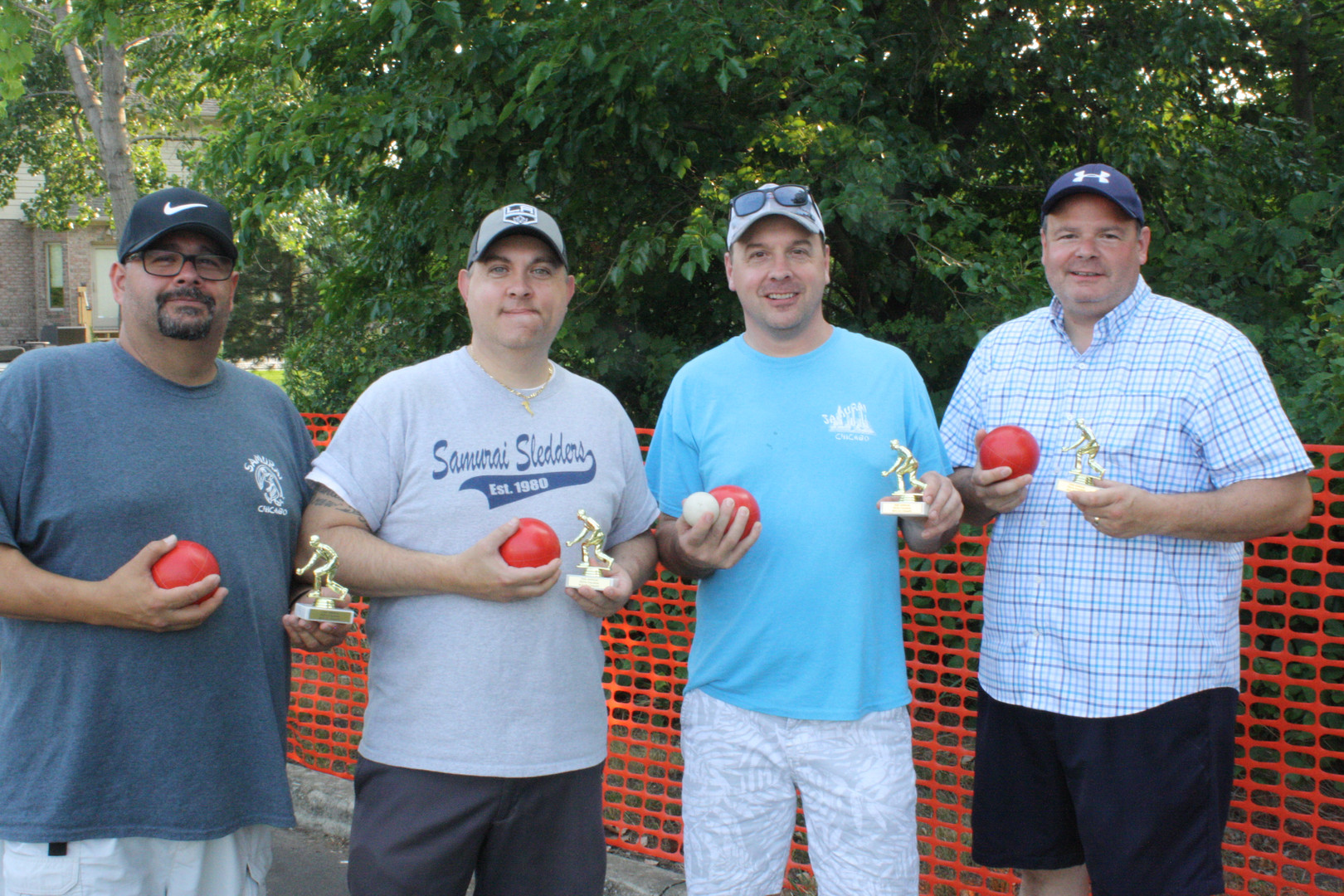 Bocce Ball Tournament Winners