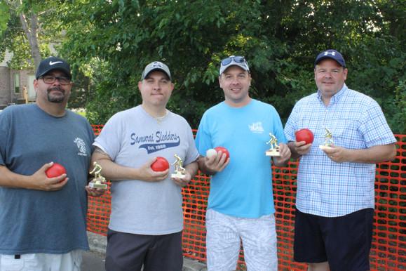 Bocce Ball Tournament Winners