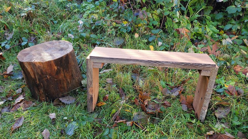 Single Reclaimed Cedar Stackable Shelf