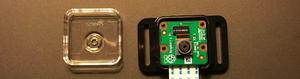 Camera placed on back of protecitve case