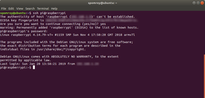 Initial login from Linux