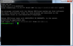 Succesful login from Windows using Putty