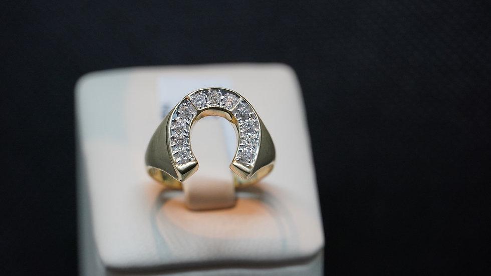 Horse shoe diamond ring