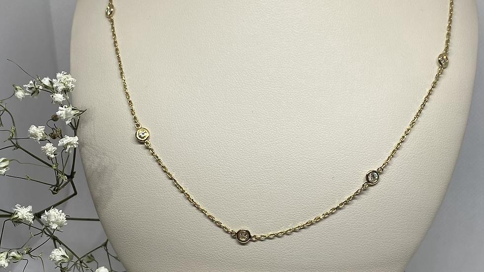 14k gold chain diamond