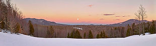 Winter Moon - Photograph by Ken Schuster.